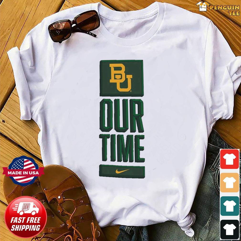 Nike BU Baylor Bears Basketball Our Time Bench Legend Performance Shirt