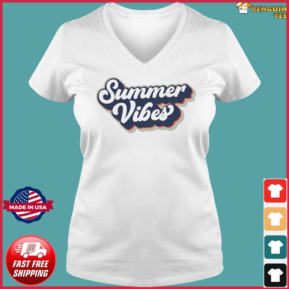 Official Vintage Summer Vibes - Hello Summer 2021 Shirt Ladies V-neck Tee