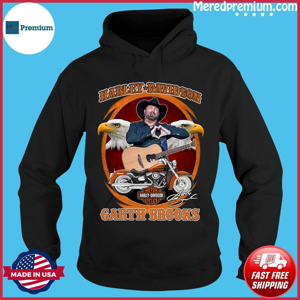Motor Harley Davidson Cycles Garth Brooks Signature Shirt Hoodie