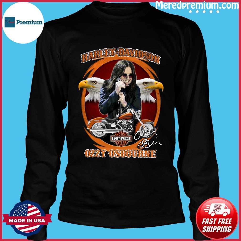 Motor Harley Davidson Cycles Ozzy Osbourne Signature Shirt Long Sleeve