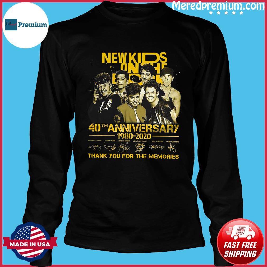 New Kids On The Dead 40th Anniversary 1980 2020 Thank You For The Memories Signatures Shirt Long Sleeve