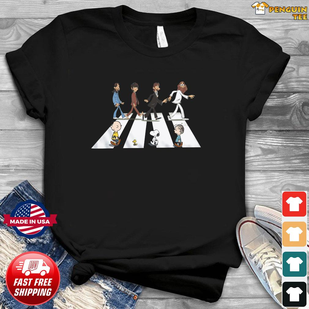 The Beatles And Snoopy Walking Across Shirt