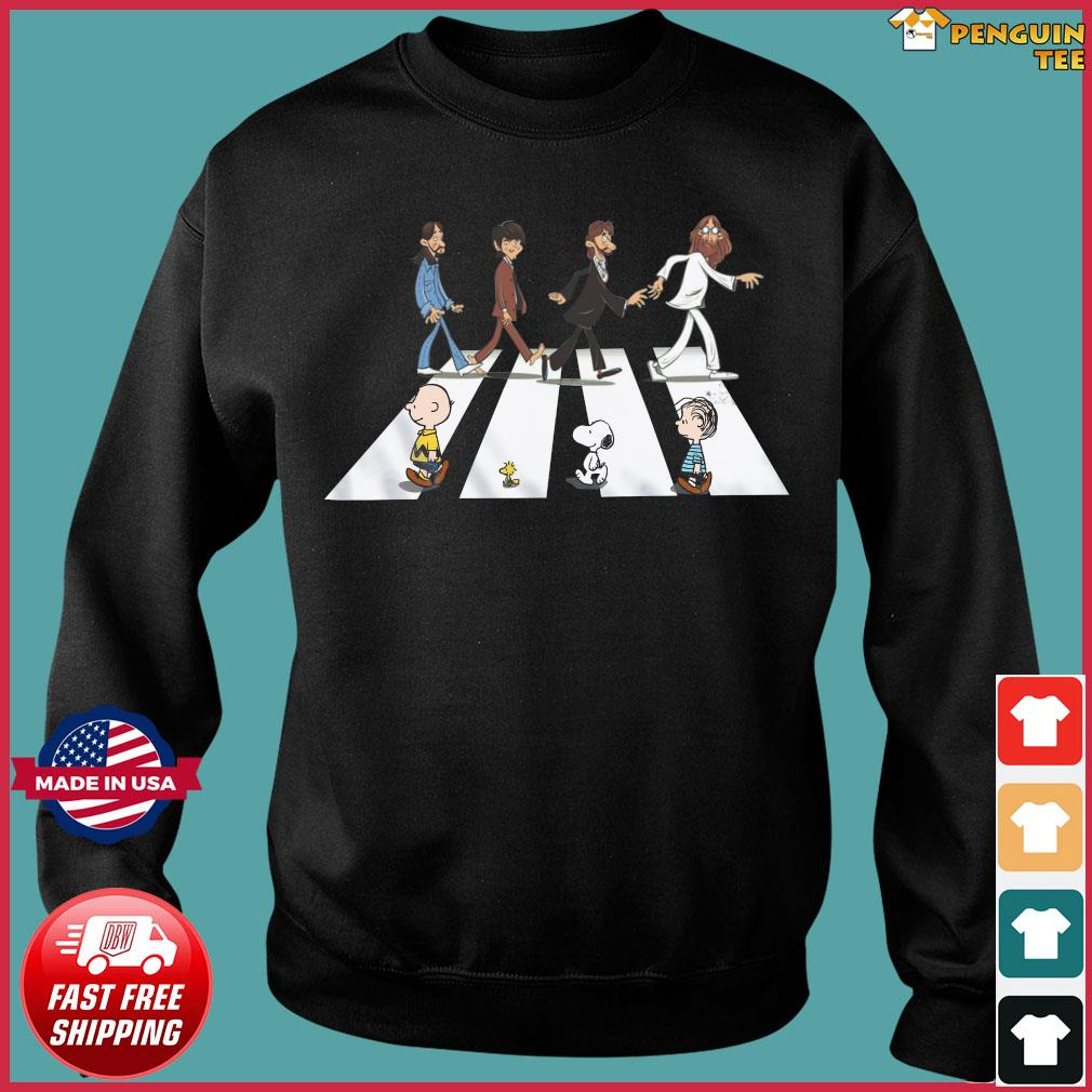 The Beatles And Snoopy Walking Across Shirt Sweater