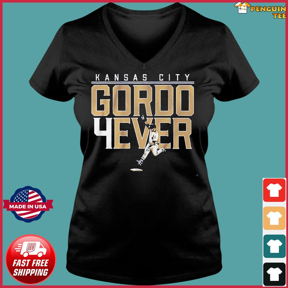 Alex Gordon Gordo 4ever Shirt Kansas City Ladies V-neck Tee