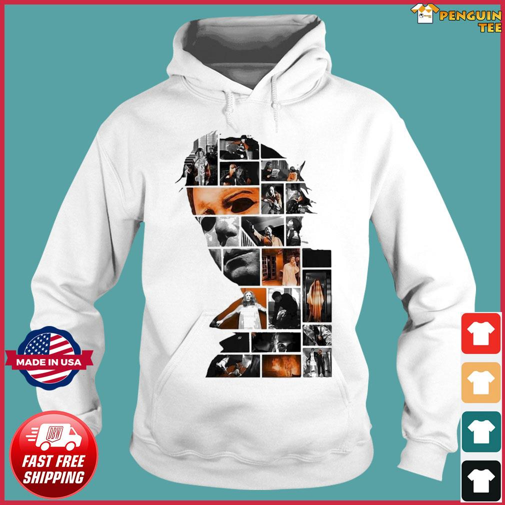 Michael Myers Face Collage Character Halloween Shirt Hoodie