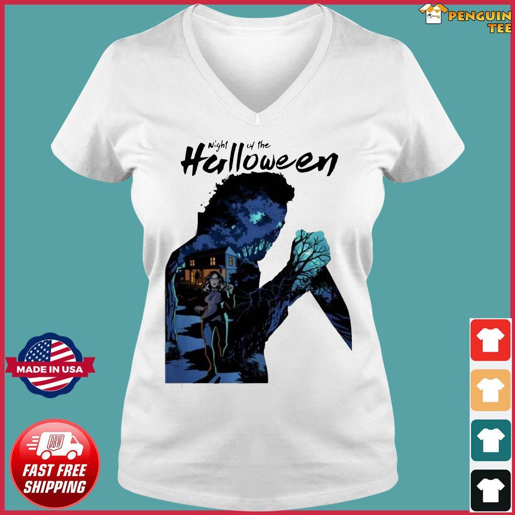 Michael Myers Night Of The Halloween Shirt Ladies V-neck Tee