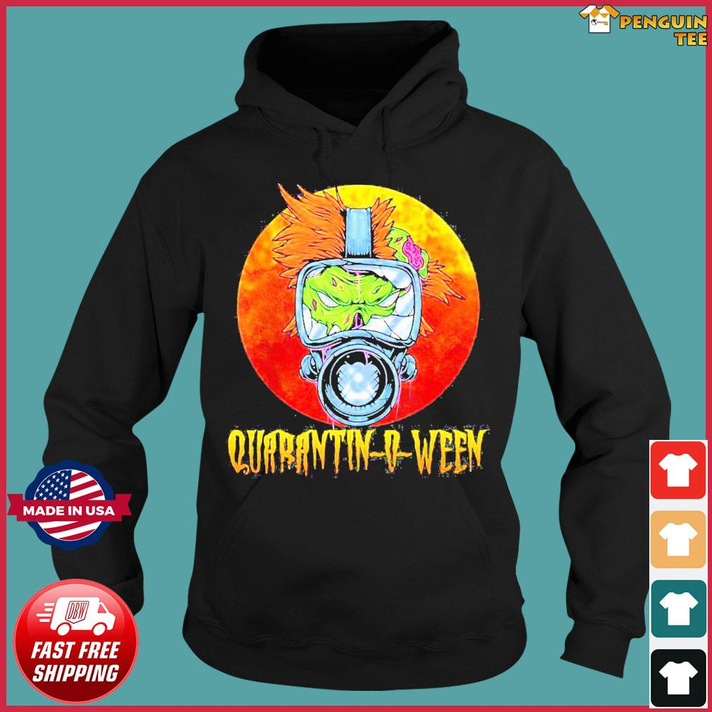 Offcial Halloween Zombie Gasmask Quarantine Quarantinoween Shirt Hoodie