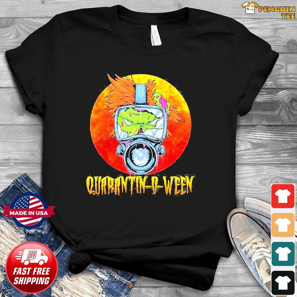 Offcial Halloween Zombie Gasmask Quarantine Quarantinoween Shirt