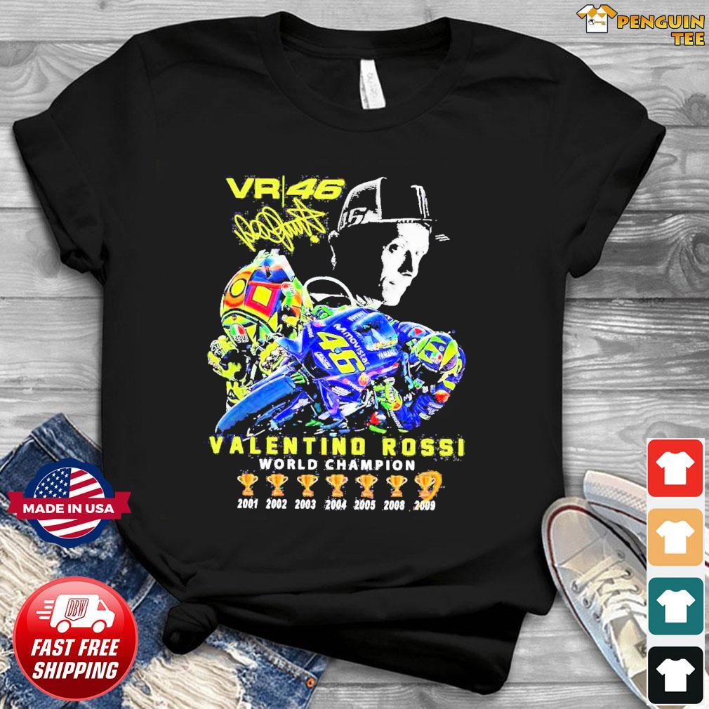 Offcial VR46 Valentino Rossi World Champion signature shirt