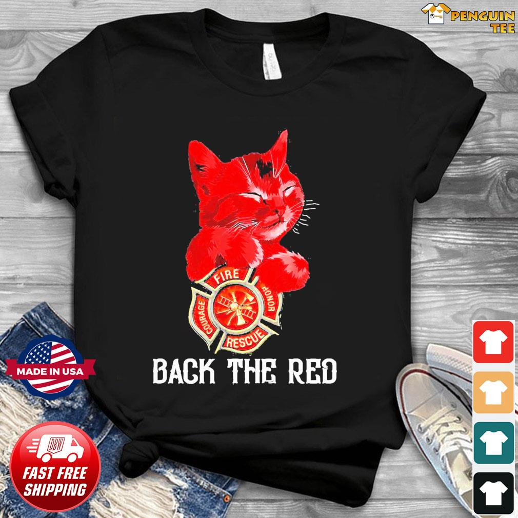 OfficialCat Honor Fire Courage Rescue back The Red shirt