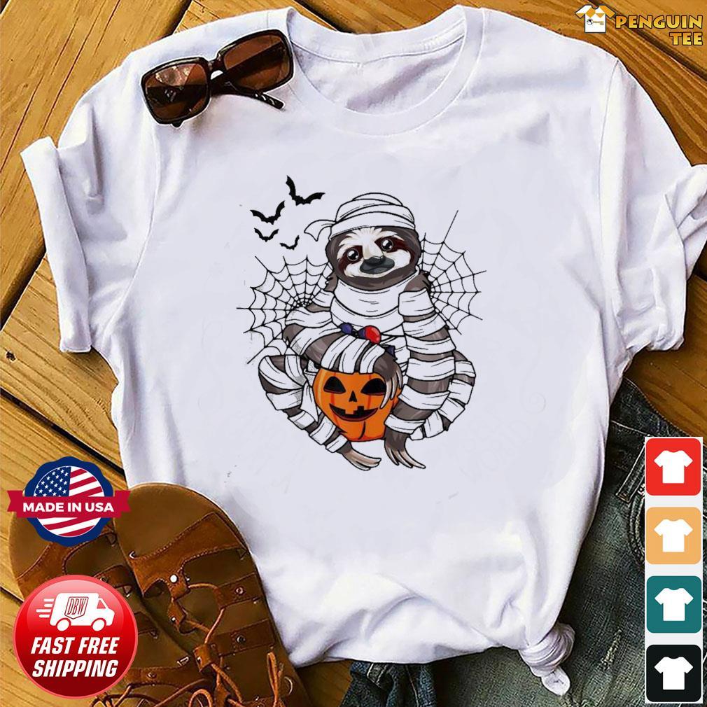 Sloth hug pumpkin Halloween shirt