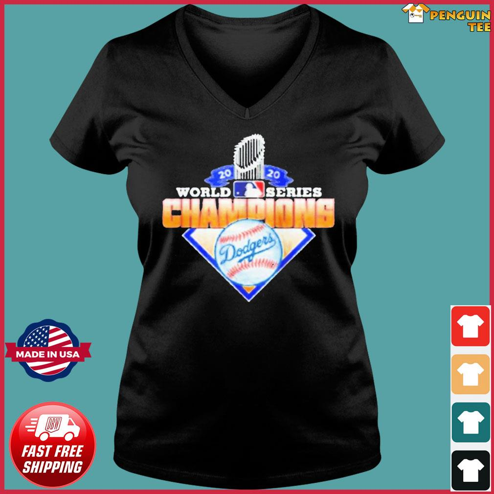 2020 World Series Champions League MLB dodgers T-Shirt Ladies V-neck Tee