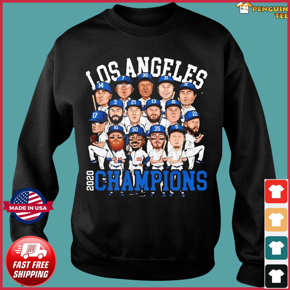 2020 World Series Champions Los Angeles Shirt – Team LA Dodgers 2020 Champions T-Shirt Sweater
