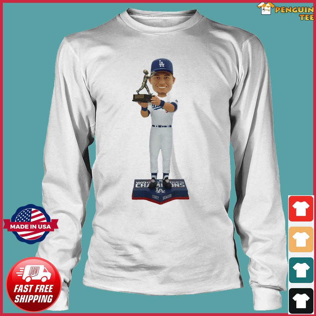 Corey Seager Los Angeles Dodgers 2020 World Series Champions MVP T-Shirt Long Sleeve