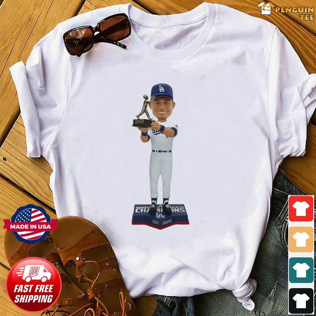 Corey Seager Los Angeles Dodgers 2020 World Series Champions MVP T-Shirt