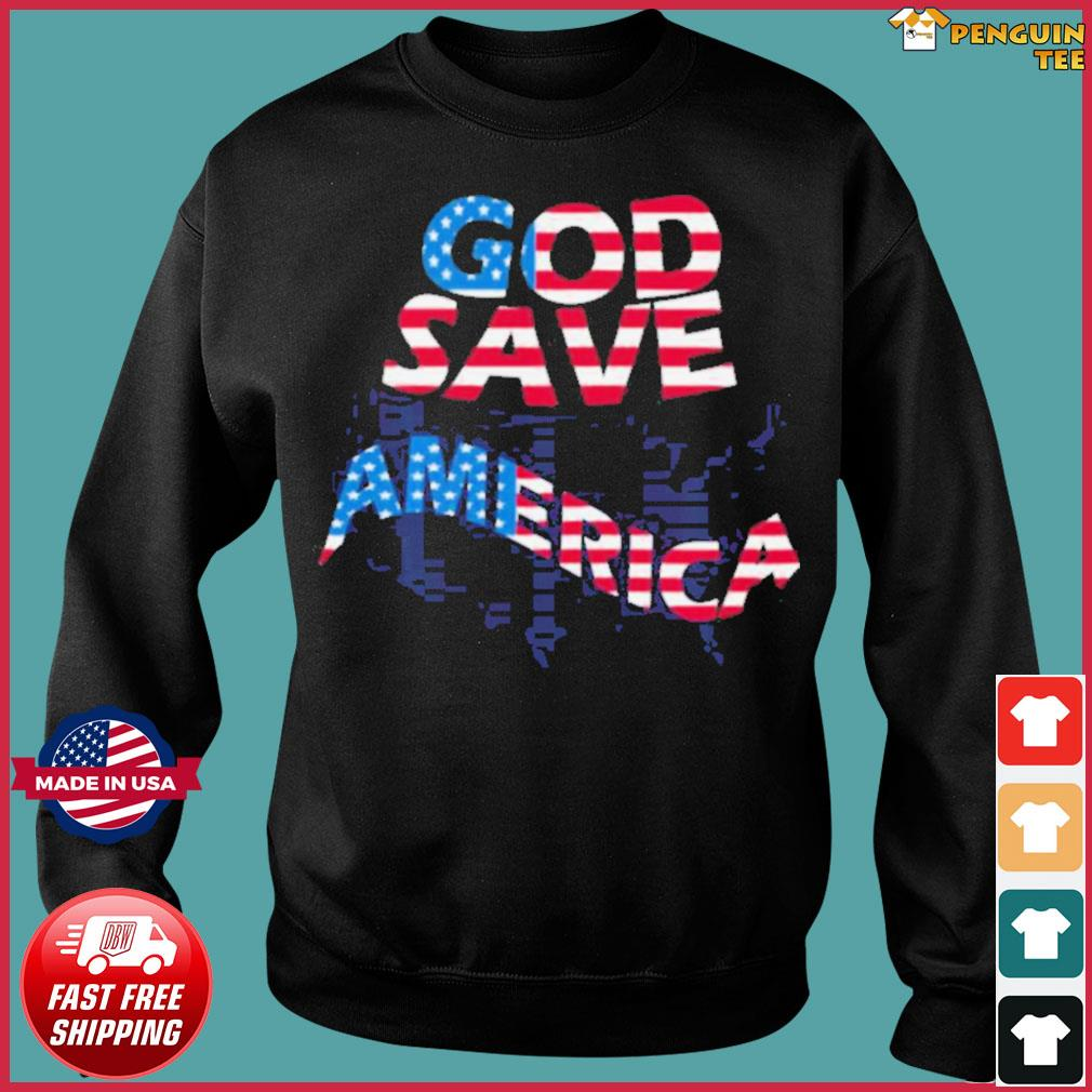 God save america patriotic american flag s Sweater