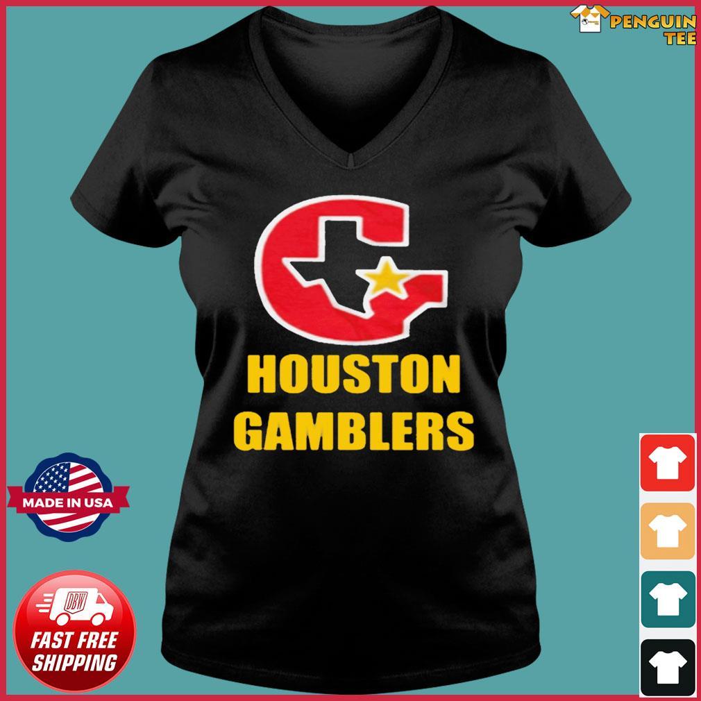 HOUSTON GAMBLERS T-SHIRT Ladies V-neck Tee