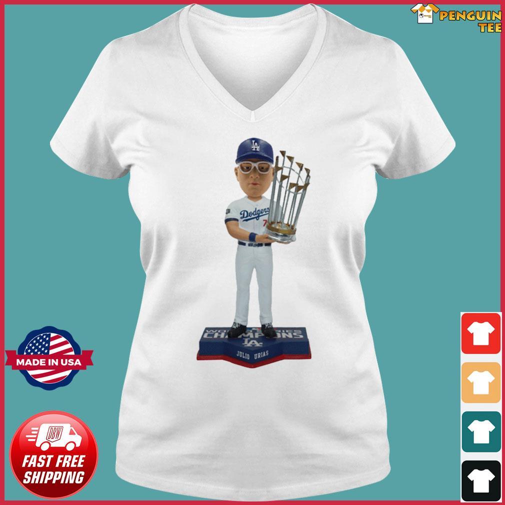 Juilo Urias Los Angeles Dodgers 2020 World Series Champions Shirt Ladies V-neck Tee