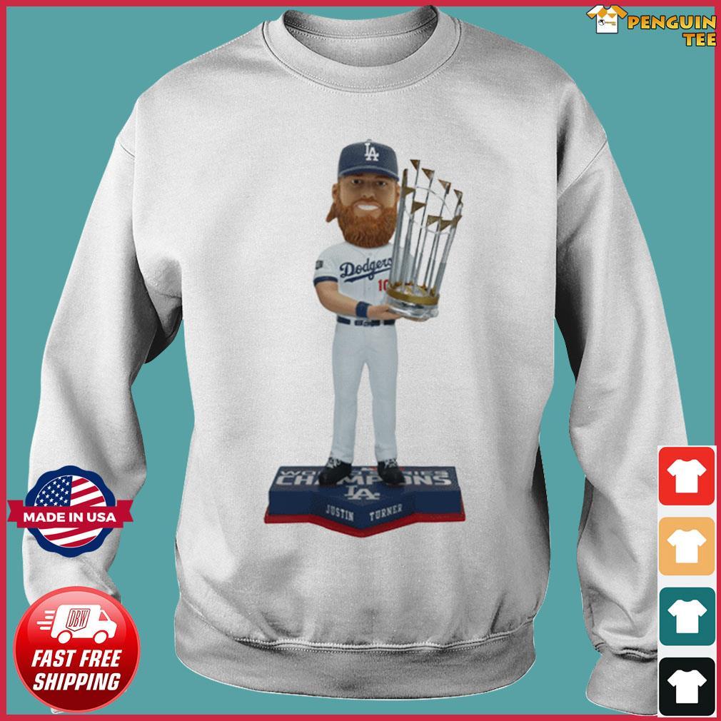 JUSTIN TURNER LOS ANGELES DODGERS 2020 WORLD SERIES CHAMPIONS BOBBLEHEAD SHIRT Sweater