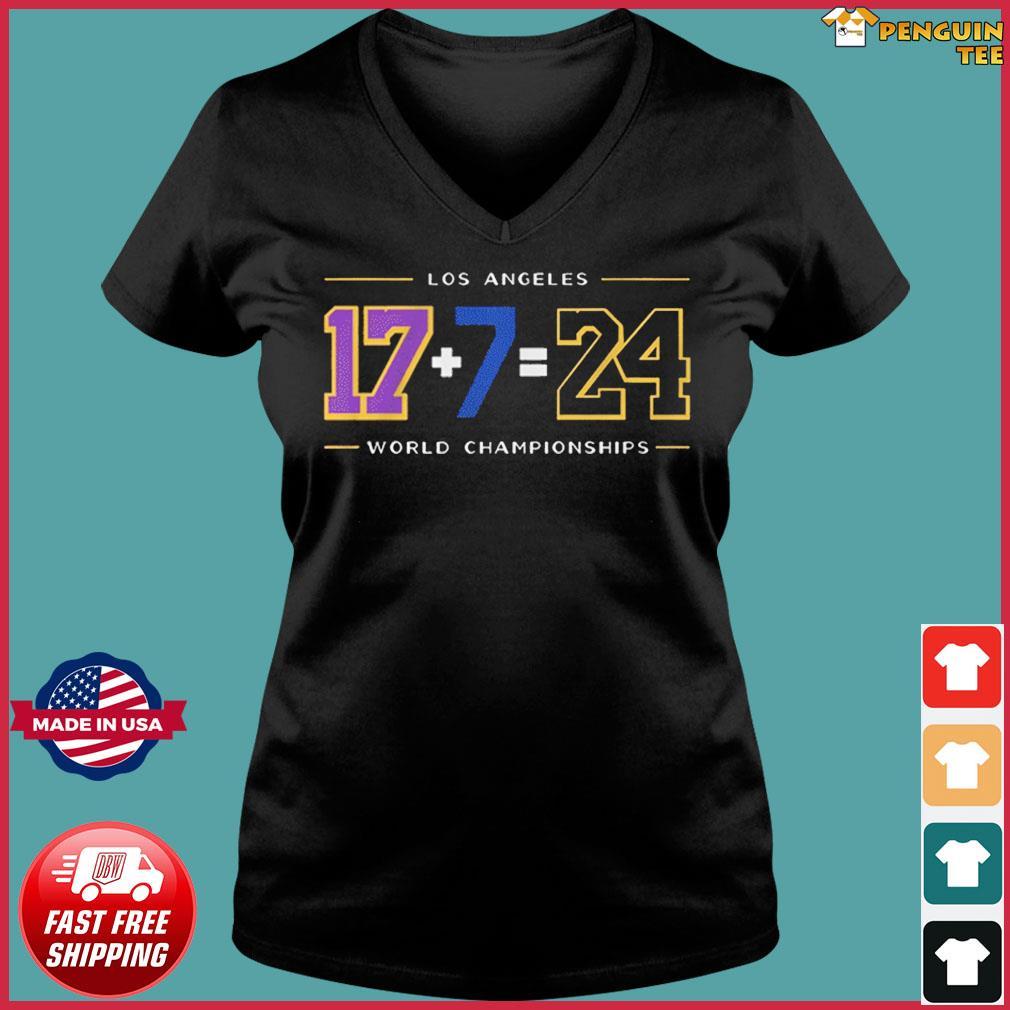 LA24 Shirt – Los Angeles Baseball World Championships T-Shirt Ladies V-neck Tee