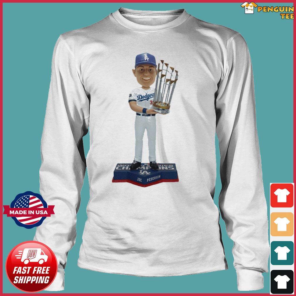 Los Angeles Dodgers 2020 World Series Champions Joc Pederson T-Shirt Long Sleeve