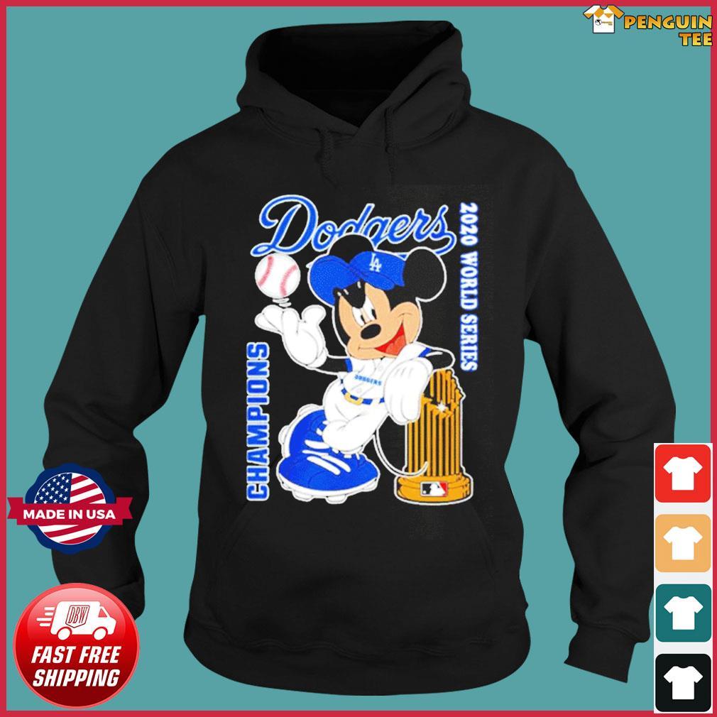 Mickey Dodgers 2020 world series champions T-Shirt Hoodie