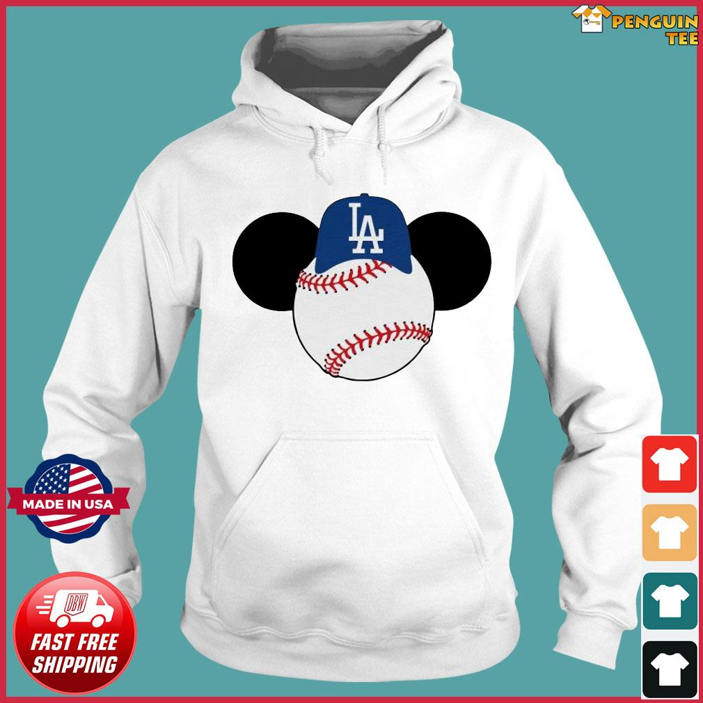 Mickey Mouse Los Angeles LA Dodgers Logo Baseball LA Disney Shirt Hoodie