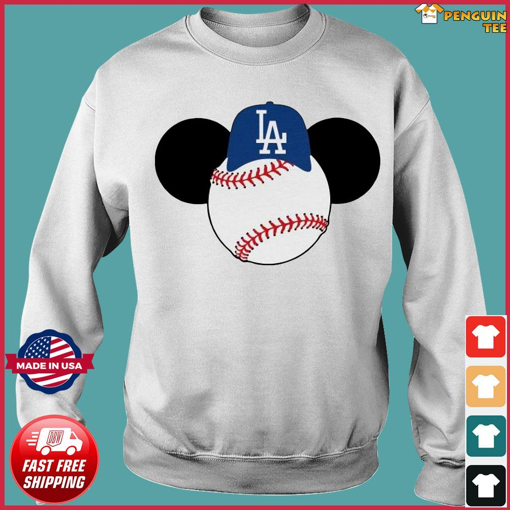 Mickey Mouse Los Angeles LA Dodgers Logo Baseball LA Disney Shirt Sweater