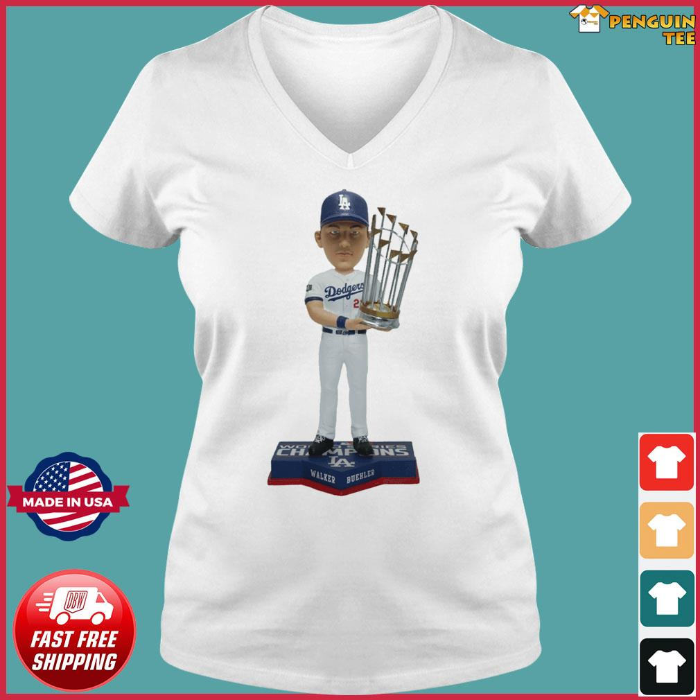 Walker Buehler Los Angeles Dodgers 2020 World Series Champions Gift T-Shirts Ladies V-neck Tee
