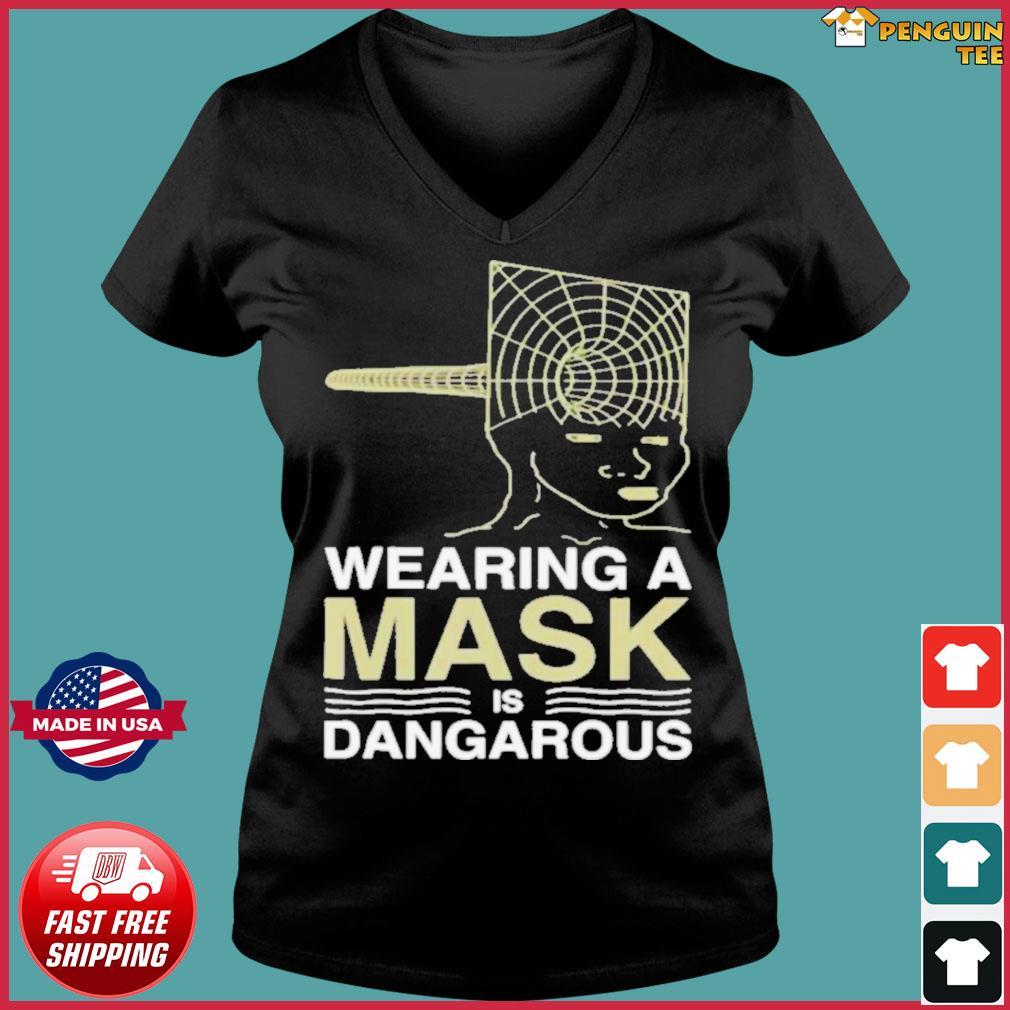 Wearing a mask meme trollface conspiracy theory s Ladies V-neck Tee