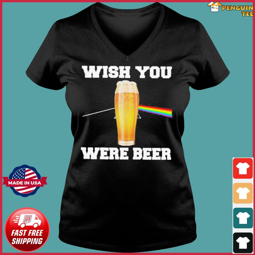 Wish You Were Beer s Ladies V-neck Tee