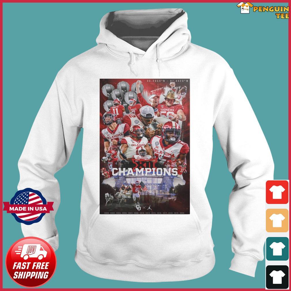 Official Oklahoma Sooners Team Football Players Champions 2021 Shirt Hoodie