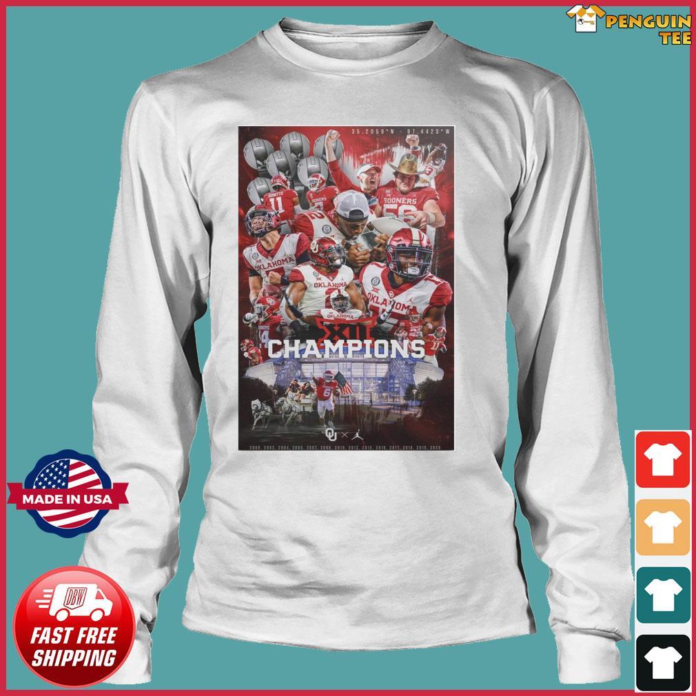 Official Oklahoma Sooners Team Football Players Champions 2021 Shirt Long Sleeve