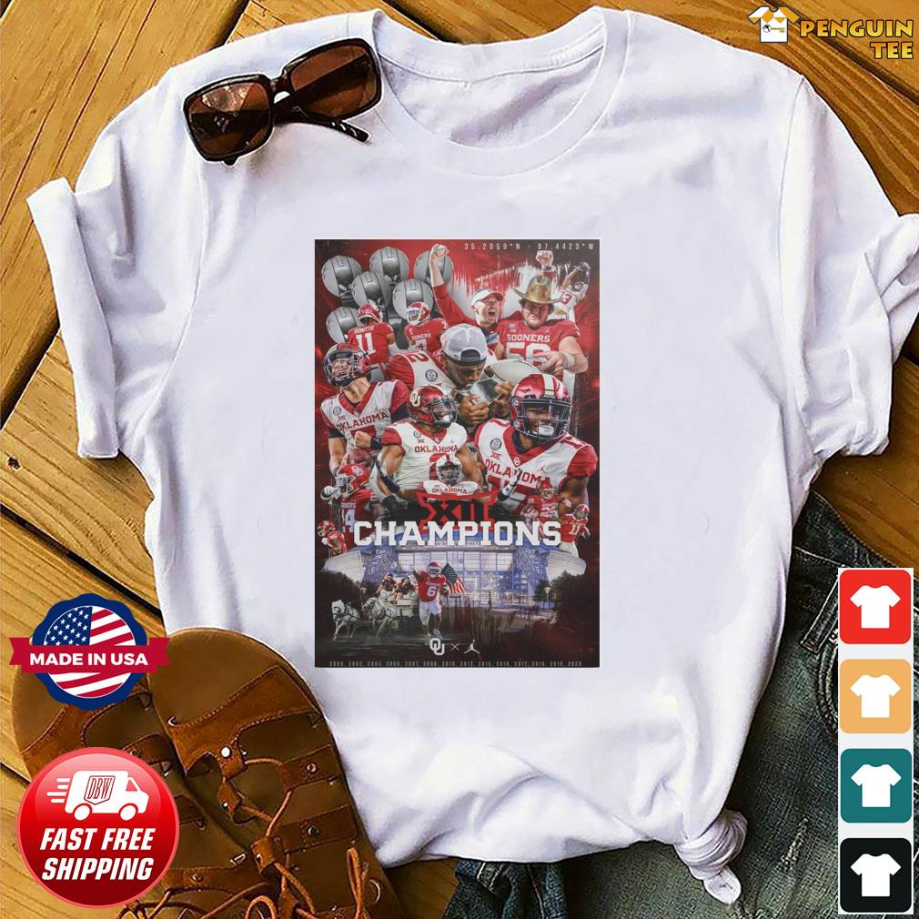 Official Oklahoma Sooners Team Football Players Champions 2021 Shirt