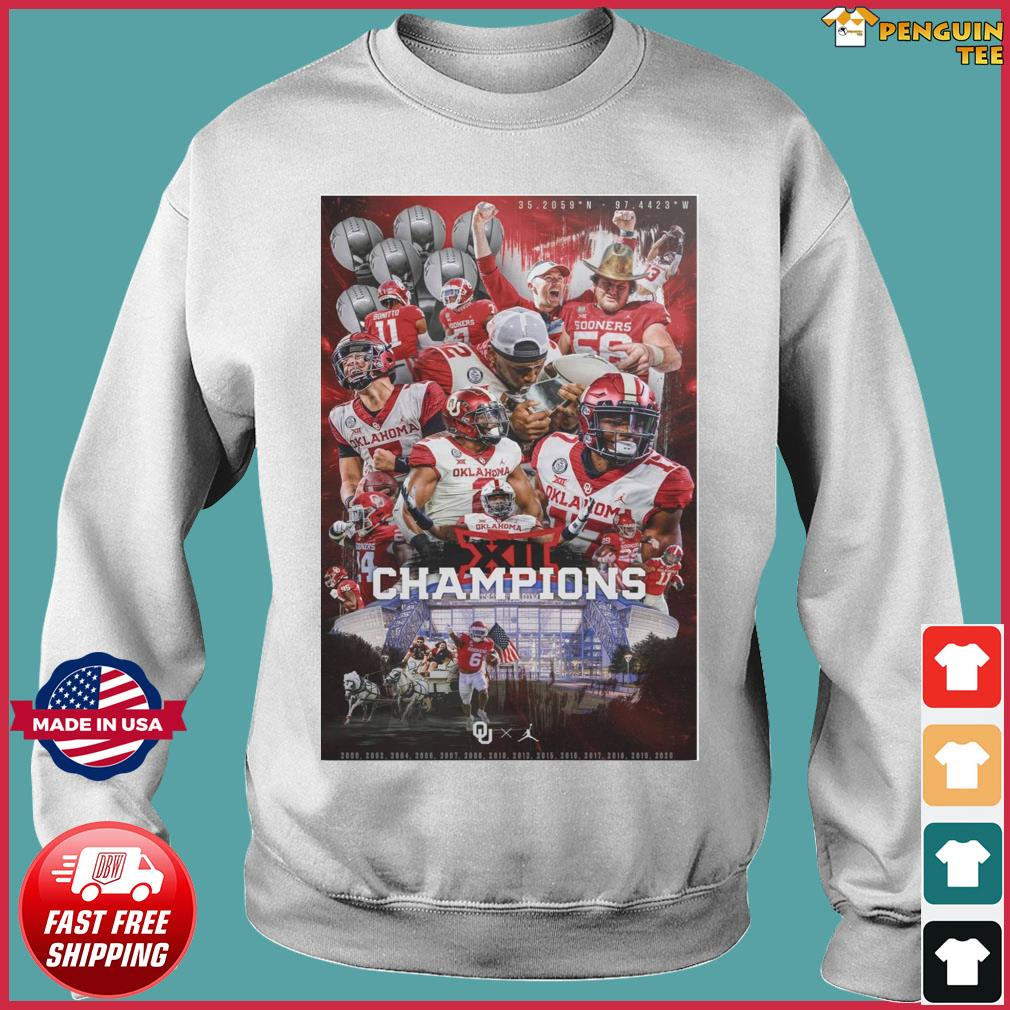 Official Oklahoma Sooners Team Football Players Champions 2021 Shirt Sweater
