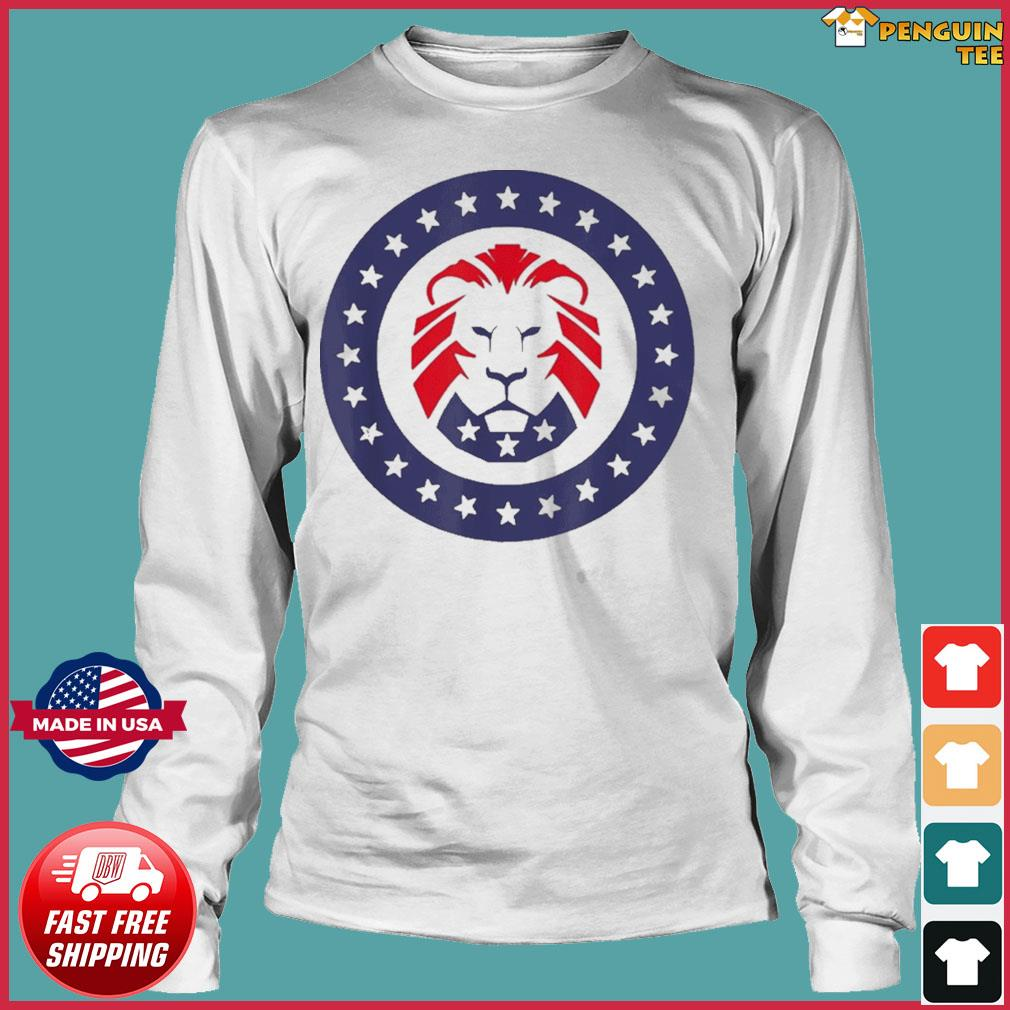 Patriot Party Conservative Lion Patriotic 4th of July T-Shirt Long Sleeve