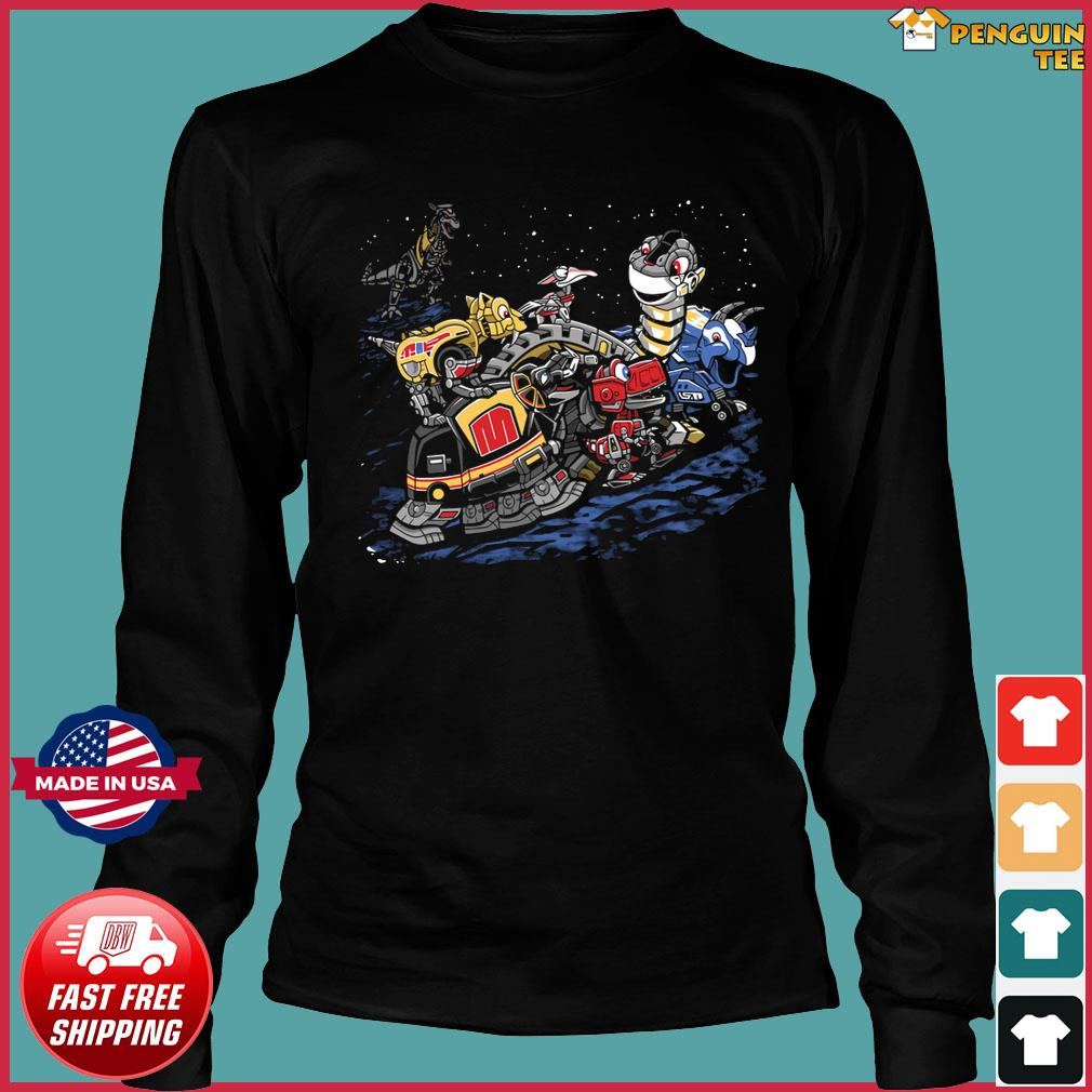 Zords before time Powers Ranger s Long Sleeve Tee
